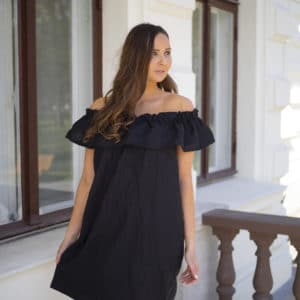 Off shoulder mekko pellavaa